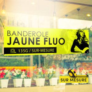 Banderole jaune fluo indéchirable